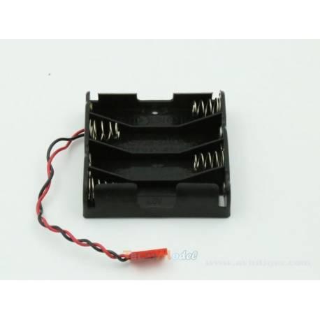 Boîtier porte piles pour 4 piles AA type LR6