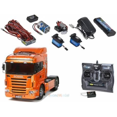 "Pack complet Scania r470 ""Orange Edition"" Tamiya"