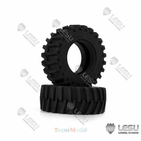 Paire de pneus Avant pour tracteur 1/16 Bruder