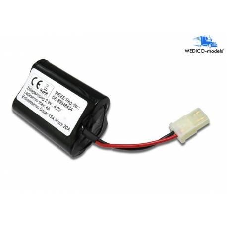 Batterie Li-Ion 11.1V 4.2Ah avec prise AMP et protection électronique