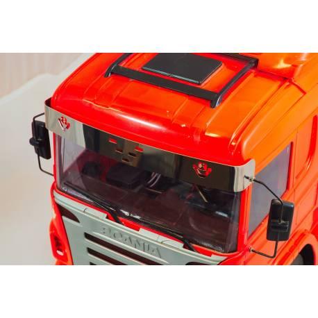 Visière pour Scania Tamiya 1/14 avec emblème V8 Scale-Parts SP-01-04-031