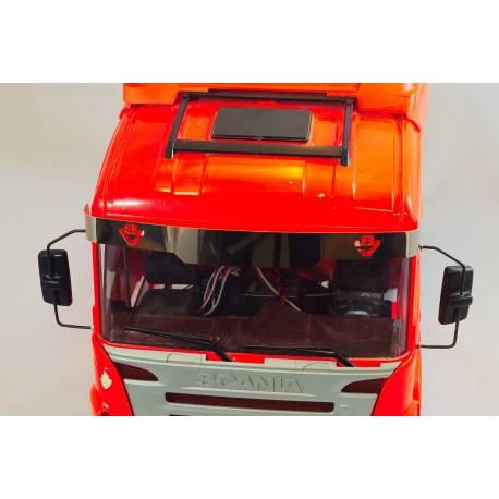 Visière pour Scania Tamiya 1/14 avec emblème V8 Scale-Parts SP-01-04-032