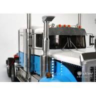 Paire de filtres à air LESU GW-K017 avec prise d'air haute façon camion australien et barres de leds verticales