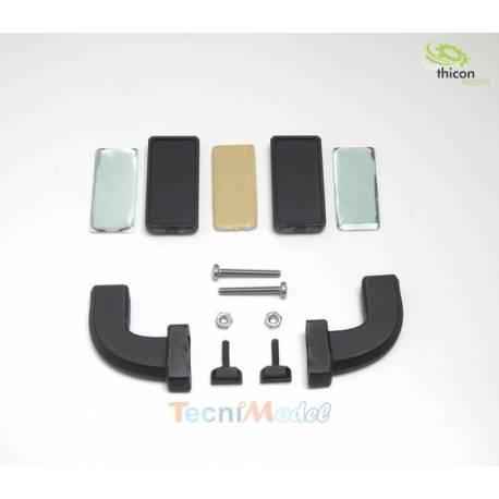 Paire de rétroviseurs caméras (mirrorcam) pour Mercedes Actros et Arocs Tamiya 1/14 / THICON MODELS 50269