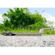 Remorque porte-engin en acier à 2 lignes d'essieux LESU LS-A0005