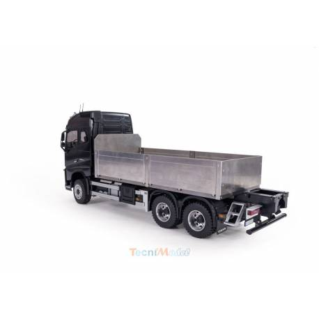Plateau à ridelles en métal court, pour camion rc porteur 3 essieux 1/14