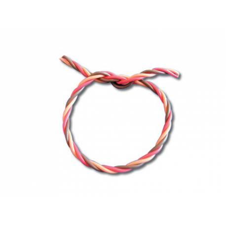 Câble silicone 0.50² 3 brins torsadés