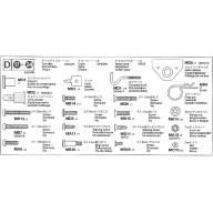 Sachet de pièces métal D pour remorque Pole Trailer 56310
