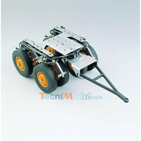 Double-essieux avant pour semi-remorque surbaissée, orientable