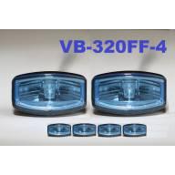 4 projecteurs Jumbo Hella bleus