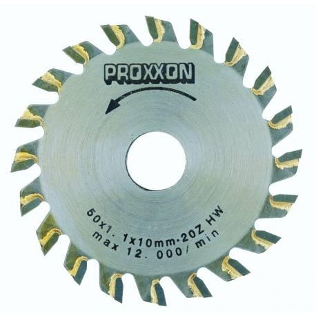 Lame de scie circulaire revêtues de métal renforcé ø 50 mm x 1,1 (alésage 10 mm). 20 dents.
