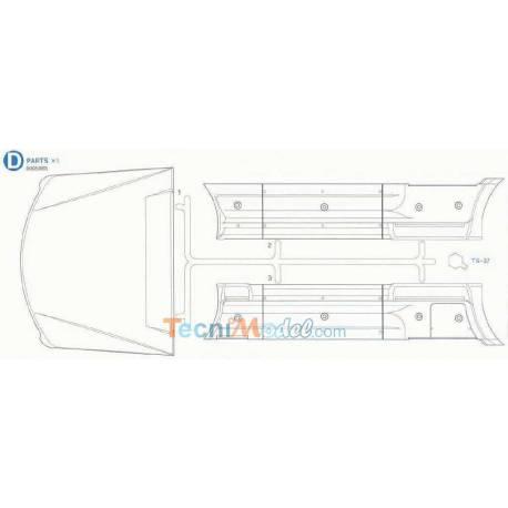 Grappe D Aeromax Tamiya (Flancs et deflecteur de toit)