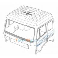 cabine Mercedes Tamiya nue