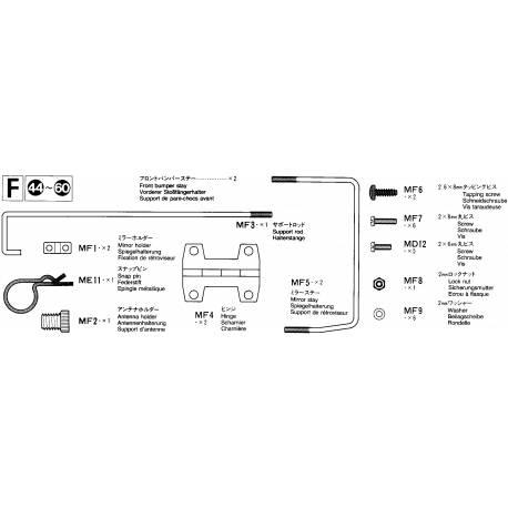 Sachet de pièces métal F pour Mercedes 1838LS
