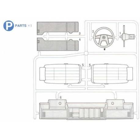 Grappe P tableau de bord et sièges Mercedes Tamiya
