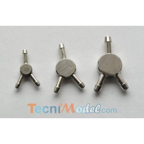 Raccord hydraulique en Y 1.5 - 2 mm