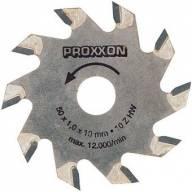 Lames de scie circulaire Proxxon revêtues de métal renforcé. ø 50 mm x 1,1 (alésage 10 mm). 10 dents.