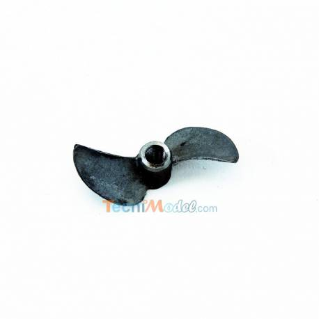 Hélice de compétition Inox bipale diamètre 27mm à droite pas 34mm.