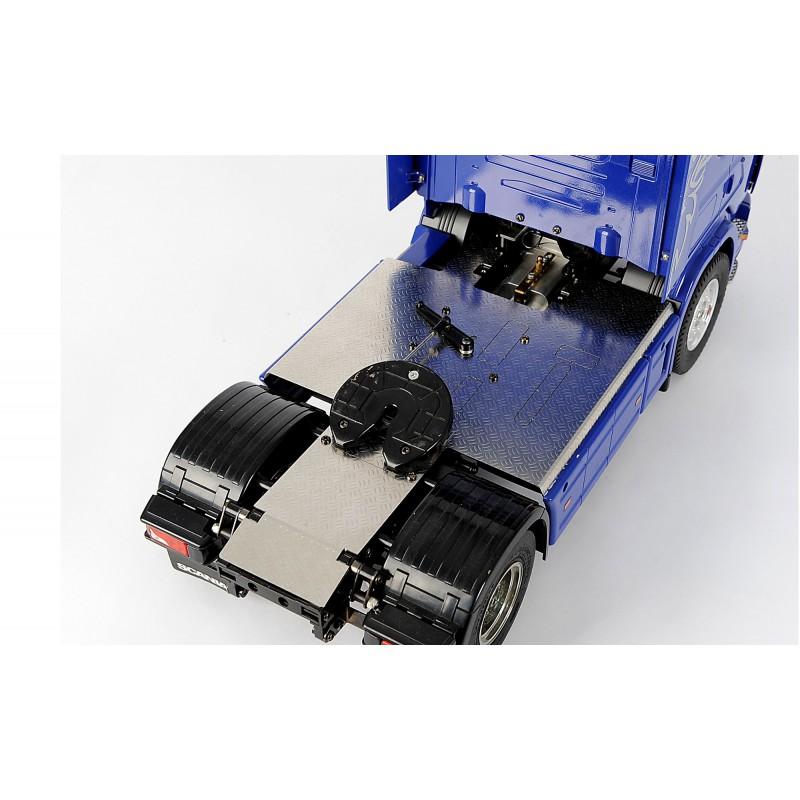 recouvrement de ch ssis en t le grain de riz inox pour tracteur 4x2 tamiya. Black Bedroom Furniture Sets. Home Design Ideas