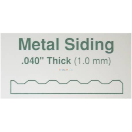 Plaque ondulée ep.1mm intervalel:0,75mm ref: 4525 Evergreen Carte plastique Evergreen
