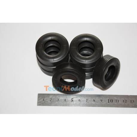 8 pneus caoutchouc Ø45mm