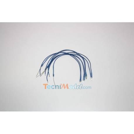 4 Leds câblées 3mm bleu luminosité forte 6v - 7.2v fil de 18cm