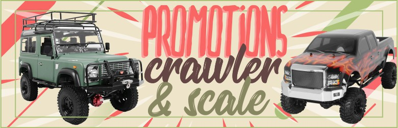 Promotions sur Crawlers et Scale