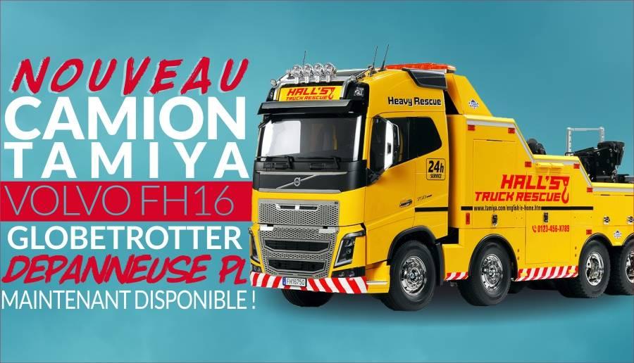 Camion Tamiya 56362 Volvo FH16 Globetrotter 750 8x4 Dépanneuse PL