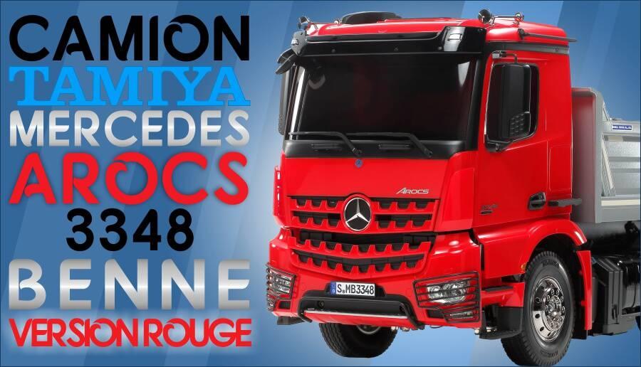 Camion RC Arocs benne 6x4 3348 56361 ROUGE + système de levage