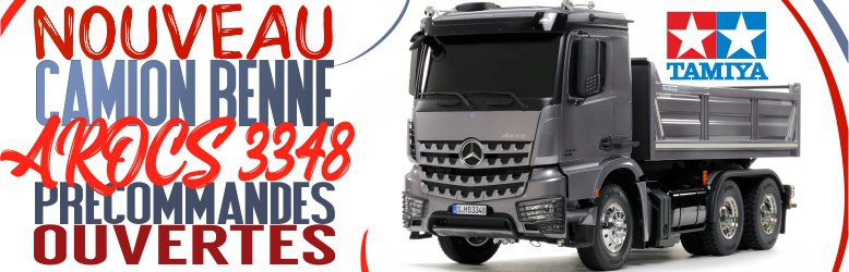 Nouveau Camion Benne Tamiya Mercedes Arocs 3348 benne 56357