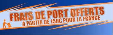 Frais de port offerts pour la France à partir de 150€
